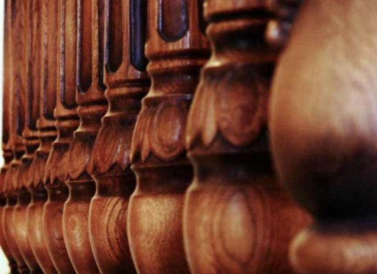 Wooden balusters for balustrades